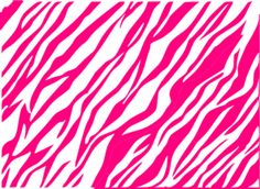 Pink And White Zebra Print Background Clip Art