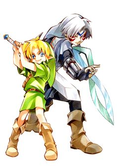 The Legend of Zelda: Majora's Mask, Young Link and Fierce Deity