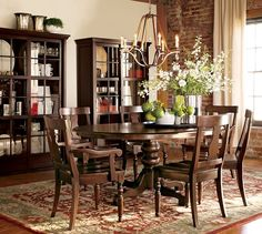 Pottery Barn's expertly crafted collections offer a widerange of stylish indoor and outdoor furniture, accessories, decor and more, for every room in your home. Decorating Your Home, Interior Decorating, Interior Design, Pottery Barn, Large Round Dining Table, Fine Dining, Dining Room Paint, Dining Rooms, Home Furniture