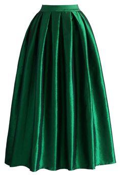 La Diva Pleated Maxi Full Skirt in Green - Buyer's Pick - Retro, Indie and Unique Fashion