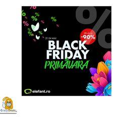Black Friday de Primăvară – prețuri speciale și reduceri de până la 90% la mii de produse pe Elefant Black Friday, Artwork, Work Of Art, Auguste Rodin Artwork, Artworks, Illustrators