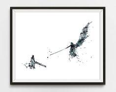 Final Fantasy Art Print Watercolor Final Fantasy Art FF7  #finalfantasy #ff #anime #manga #game #japan #nipon #watercolor #finalfantasyvii #finalfantasy7 #finalfantasyx  #cloudstrife #aerith #gainsborough #sephiroth #warrior #archer #sword #tank #art #print #ff7 #giftidea  #games #wallart #gameposter #finalfantasyxiv #finalfantasy8 #finalfantasyprint #gift #watercolorgame