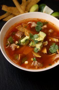 Spicy Chicken Tortilla Soup Recipe | Easy Healthy Gluten-Free Mexican