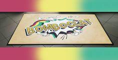 Neues Teppichmotiv: 🏝️ B O M B O C L A T 🏝️  https://www.fix-fussmatte.de/shop/artikel/design-schmutzfangmatte-50-x-70-cm/motive/bomboclat_1