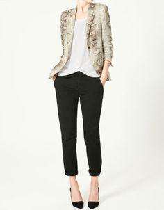 PRINTED BLAZER - Blazers - Woman - New collection - ZARA United States - StyleSays