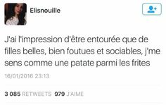 Blagues Funny Me, Funny Jokes, Best Tweets, Lol, French Quotes, I Can Relate, Story Of My Life, Laugh Out Loud, True Stories
