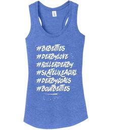 Evolution of Roller Derby Design Printed Ladies T Shirt Women Round Neck Tee Top