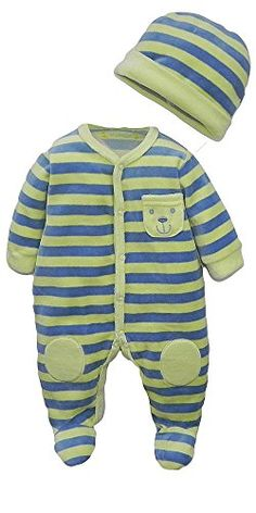 Winbright Baby Boys Lovely Bear Striped Footed Fleece Sleeper Yellow  Preemie -- You can find out more details at the link of the image.