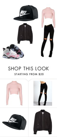"""""""Untitled #19"""" by dianabarrera-1 on Polyvore featuring Topshop, NIKE, MANGO, women's clothing, women's fashion, women, female, woman, misses and juniors"""