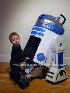 Homemade R2D2 Stroller Costume