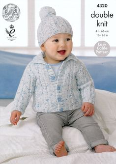 Children's Cardigans and Hats in King Cole Smarty DK (4320) | King Cole Knitting Patterns | Knitting Patterns | Deramores
