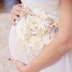 Lovely three in 1 Classic Beige Ivory Maternity Sash Bridal Sash Child Bathe Sash Stomach Belt Basket Decor-