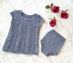 Babygirl dress. Knitting.