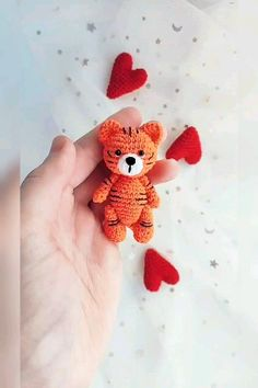 Little Tiger toy crochet pattern, crochet tiger pattern, little tiger pattern, tiger toy, Amigurumi You are in the right place about crochet heart Here we. Crochet Animal Patterns, Crochet Patterns Amigurumi, Stuffed Animal Patterns, Crochet Animals, Crochet Dolls, Knitting Patterns, Crochet Brooch, Diy Accessoires, Cute Crochet