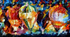 Leonid Afremov Baloon Parade oil painting reproductions for sale
