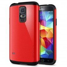 Cover Samsung Galaxy S5 Spigen SGP Armor Series Slim Rosso  € 19,99