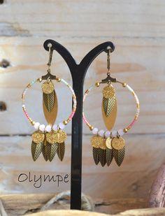 Boucles d'oreilles Olympe, collection Ice Cream -L'Atelier des Misstinguettes - Avignon