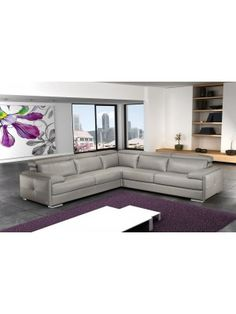 Gary Italian Leather Sectional by J&M Furniture