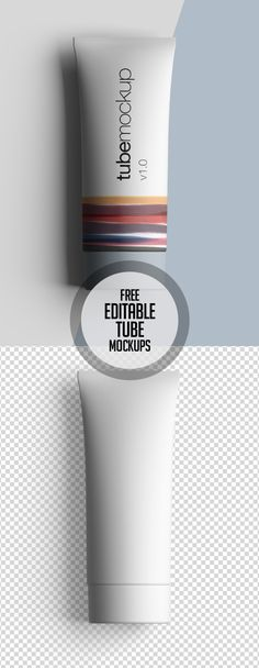 Free Premium Editable Tube Mockup #freepsdfiles #freepsdmockups #freebies #psdmockups