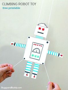 STEM for Kids: Free Printable Gliding Robot Toy- Fun science and art activity…