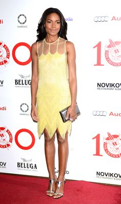 Naomie Harris in Naeem Khan at the London Critics' Circle Film Awards in London. | The Trend Report: Mellow Yellow http://aol.it/1ny7R6m