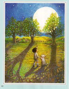 Image detail for -Childrens Print Moon Woods Bears Kay Chorao Nursery Rhymne Picture ...