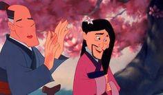 Hey Mulan's man disguise is really working for her.