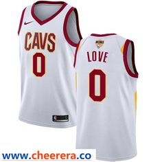 b93bbd6cdbd Nike Cavaliers #0 Kevin Love White The Finals Patch NBA Swingman  Association Edition Jersey Nba