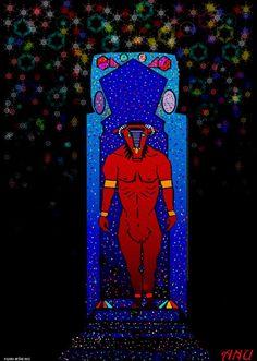 En el reino de Corinthia es adorado el dios-toro Anu, un híbrido de hombre y toro de color rojo. Una especie de minotauro. Anu is a red-humanoid  bull-god, hybrid of man and bull. It looks like minotaur and is worshipped in the Kingdom of Corinthia.