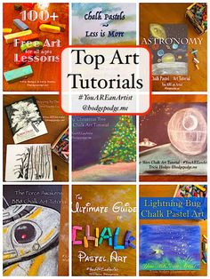 Our artists have some top art tutorials here at Hodgepodge! I'm sharing your top 10 favorite art tutorials, below. Be sure to browse and pin to enjoy. Chalk Pastel Art, Chalk Pastels, Chalk Art, Top Art Schools, Christmas Tree Art, Arts And Crafts Furniture, Summer Crafts For Kids, Art Curriculum, Arts And Crafts Movement
