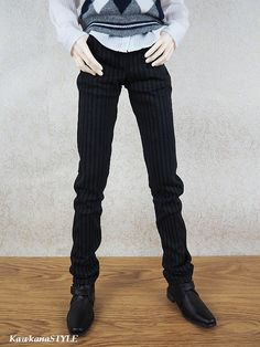 Kawkana Black Stripe Boy Men PANTS jeans elegant by KawkanaSTYLE