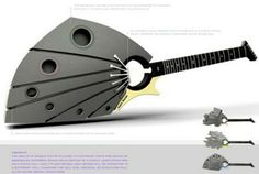 3D geprinte gitaar!