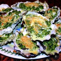 "Rockin' Oysters Rockefeller | ""Now I know why this recipe is called, Rockin' Oysters Rockefeller! This recipe rocks!!!! It's the best Oysters Rockefeller I've ever had. Delicious and out of this world!"" http://allrecipes.com/recipe/rockin-oysters-rockefeller/Detail.aspx"