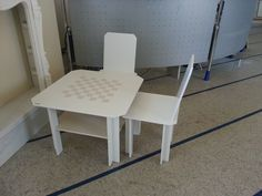table and chairs made of precomposed board for Children