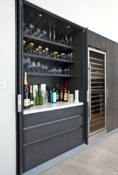 Home bar storage closet 18 Ideas Diy Home Bar, Home Bar Decor, Home Bars, Home Wine Bar, Küchen Design, House Design, Design Ideas, Interior Design, Kitchen Bar Design