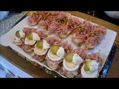 Chlebíčky se strouhaným salámem a vajíčkový salát - YouTube Sushi, Ethnic Recipes, Youtube, Youtubers, Youtube Movies, Sushi Rolls