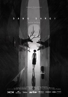 """Stills & artworks of """"Bang Bang !"""" french animated short-film directed by Julien Bisaro (Ernest & Celestine)."""