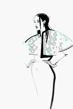 Fashion illustrations by Kathy Murysina, via Behance