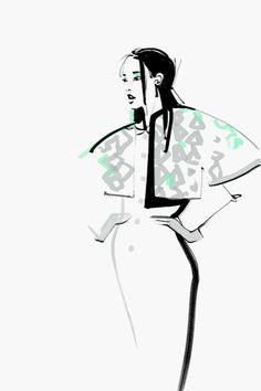 Fashion illustrations by Katerina Murysi on Illustration Served