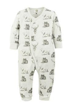 Hust & Claire Pyjamas med djur - Vit - Barn - Ellos.se