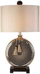 米兰个性设计师喜欢钟表时钟状圆形亚克力条纹<span class=H>台灯</span>