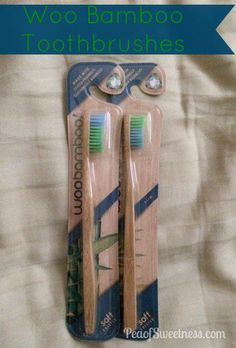 Great WooBamboo Toothbrush Review from http://www.peaofsweetness.com