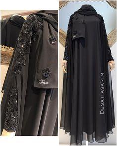Image may contain: people standing Niqab Fashion, Muslim Fashion, Modest Fashion, Fashion Models, Fashion Outfits, Dubai Fashion, Burqa Designs, Abaya Designs, Hijabi Gowns