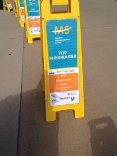 frankms milepost at the 2012 Walk MS, Irvine, CA