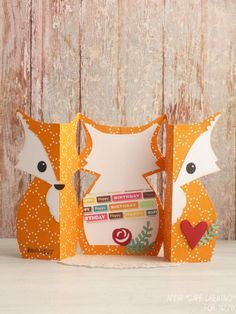 Sizzix-Card Fox Label Fold-a-Long hmmm how on the cricut?
