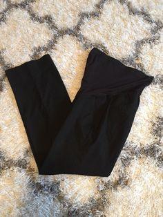99b37e3ff8e8c Liz Lange Maternity Full Panel Dress Pants Black Straight Leg (Size Small)  #fashion