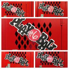 Week two senior baseball locker decorations..... Making Jake's senior year as memorable as possible