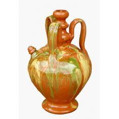 """Botijo """"3 asas"""", botija artesana de cerámica tradicional, botija de fantasía para coleccionistas y decoración"""