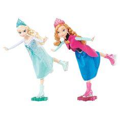 Ledové království - Princezna bruslařka Anna / Elsa. Princezny Anna a Elsa umí jezdit na ledních bruslích. Pomozte jim rozjet se a uvidíte jakou umí udělat holubičku na jedné noze. Na spodní straně jedné brusle mají kolečko a když brusli připevníte k pomocné vločce, udrží panenka lépe stabilitu. Pokud posunete panenku po rovné ploše, tak při jízdě začne ohýbat trup a rozpřáhne ruce, pak se zakloní a takhle může pokračovat, dokud budete chtít. Panenky mají ohýbací klouby a na sobě krásné…