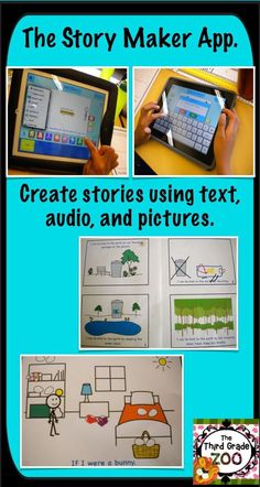 Check out this blog post for more information about the story maker iPad app which allows students to create stories using text, voice, and pictures.